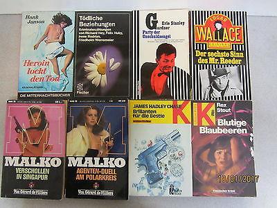 109 Bücher Taschenbücher ältere Krimi Kriminalromane Detektivromane