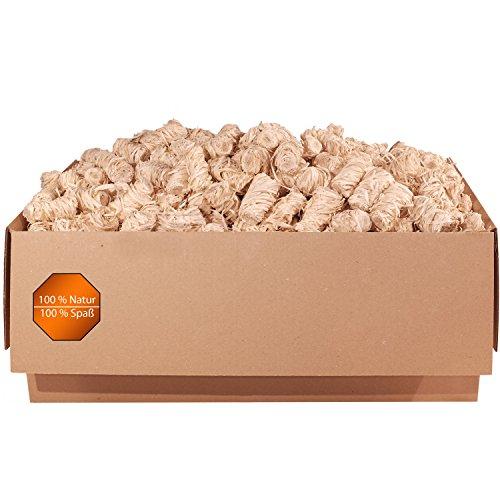 5,0 kg Holzwolle Anzünder Grillanzünder Kaminanzünder Ofenanzünder Anzündwolle Anzündhilfe (ca. 460 Stück) aus Premium Holzwolle und Wachs