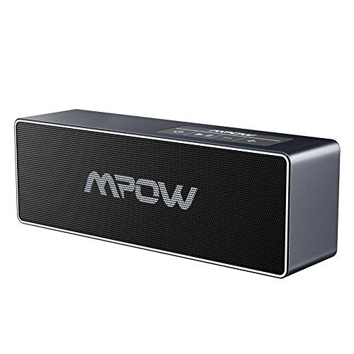 Mpow Bluetooth Lautsprecher, Tragbare drahtlose Lautsprecher, 20W Ausgangsleistung , Dual-10W-Laufwerk, Verbesserte Bass, HD Audio, 8-Stunden Spielzeit, Eingebautes Mikrofon, 3.5mm Audio-Anschluss für iPhone, iPad, Nexus, HTC