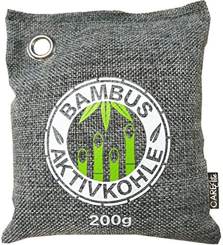 Luftentfeuchter mit natürlicher Bambus-Aktivkohle im Duft-Säckchen ? Der beste ökologische Luftreiniger als nachhaltiger Geruchsentferner in ökologischer Verpackung ? 100% biologisch abbaubarer & wiederverwendbarer Lufterfrischer mit Aktivkohle ? Bambus-L