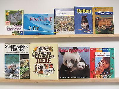 55 Bücher Bildbände Tiere Tierrassen Tierpflege Säugetiere Fische Vögel Insekten
