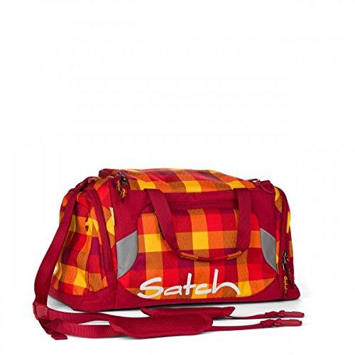 Satch Sporttasche Firecracker 9A8 rot gelb kariert