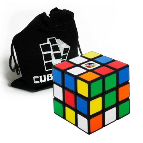 Original Rubik's Cube - 3x3 Zauberwürfel (verbesserte Version) inkl. Standfuß und Cubikon-Tasche