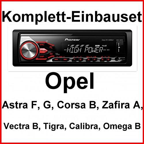 Komplett-Set Opel Astra F G Corsa B Zafira A Pioneer MVH-280FD Autoradio USB