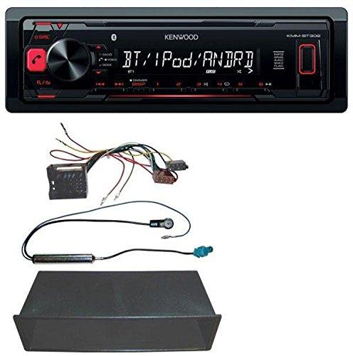 Kenwood KMM-BT302 MP3 USB Bluetooth AUX Autoradio für VW Polo, Lupo, Fox, Passat, T5
