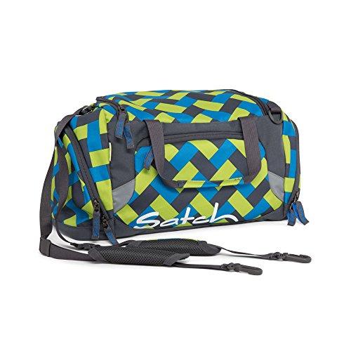 Satch Sporttasche Chaka Curbs 9D4 rechteck grün blau