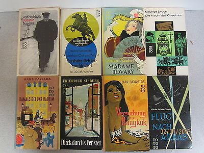 127  Bücher Taschenbücher rororo Verlag bis Seriennummer 8000