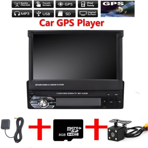 AUTORADIO MIT NAVI GPS NAVIGATION TOUCHSCREEN BLUETOOTH USB SD MP3 AUX 1DIN
