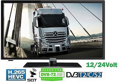 LED TV 12 Volt & 24Volt 230V Betrieb DVB-C/S2/T2 HD H.265 19,5