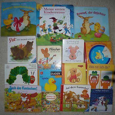 Paket Kinder Baby Bücher Kartonseiten Bilderbücher Mädchen Jungen 15 Stck