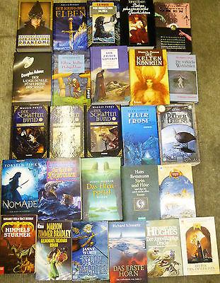 Fantasy, 52 Bücher, div. Autoren/Titel, Hardcover u. Taschenbuch