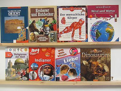 35 Bücher Kindersachbücher Jugendsachbücher Dinosaurier Willi wills wissen u.a.
