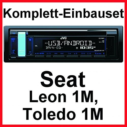 Komplett-Set Seat Leon 1M Toledo 1M JVC KD-R481 USB Autoradio AUX MP3 FLAC CD
