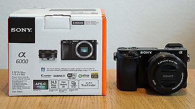 Sony Alpha ILCE-6000L 24.3 MP SLR-Digitalkamera-Schwarz Kit E PZ 16-50mm OSS+OVP