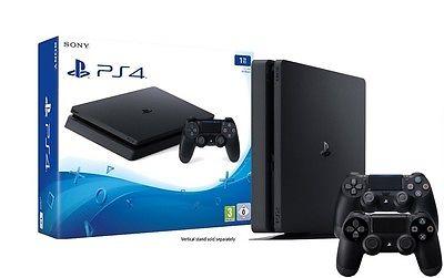 PlayStation 4 - Konsole (1TB, schwarz, slim) [CUH-2016B] - 2 Controller