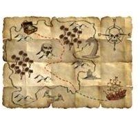 Piraten Schatzkarten Dekoration
