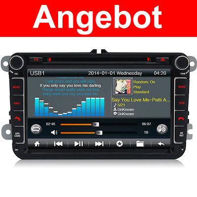 Autoradio DVD GPS Für VW Touran Golf 5 6 Caddy Passat B6 Skoda EOS SEAT Tiguan