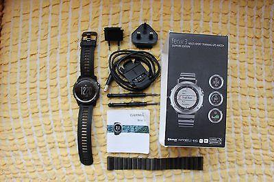 Garmin Fenix 3 Sapphire Edition GPS Bluetooth Smartwatch w.Neu Herren Armbanduhr