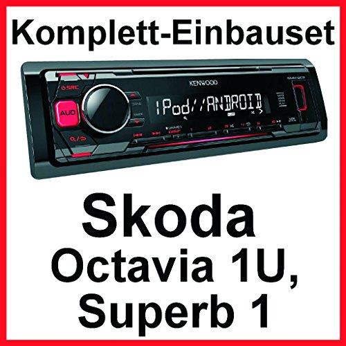 Komplett-Set Skoda Octavia 1U Superb 1 KMM-203 USB FLAC Autoradio MP3 AUX iPhone