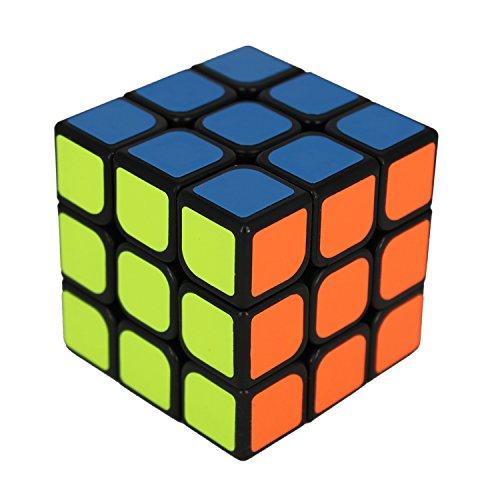 Zauberwürfel - 3x3 Speedcube GÖTEBORG - schwarz - Schneller und robuster Profi Speed-Cube 3x3 mit optimierten Dreheigenschaften für Speed-Cubing (3x3x3 Cubikon-Moyu Guanlong)