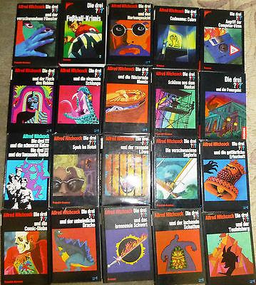 Alfred Hitchcock, Die drei ??? und…, 39 Bücher, 47 Romane, TB und Hardcover