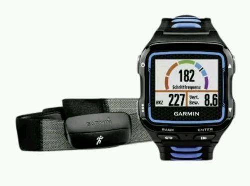 Garmin Forerunner 920XT HRM schwarz/blau Herzfrequenzsens. Training Tracking NEU