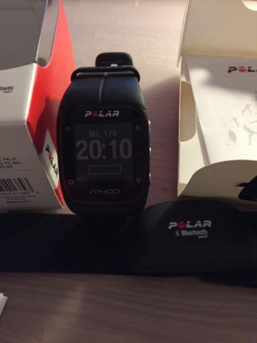 Polar Pulsuhr M400 HR schwarz GPS Herzfrequenzmesser Brustgurt OVP Restgarantie