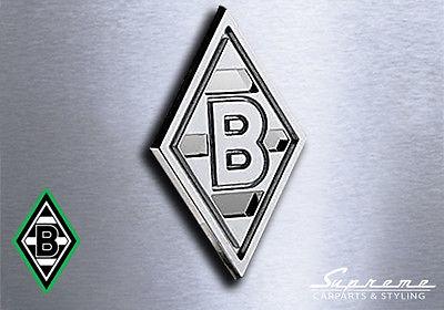 BMG Borussia Mönchengladbach - 3D Chrom Logo Auto Aufkleber Sticker Bundesliga