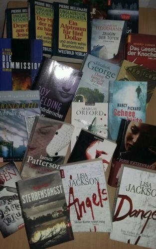Buchpaket Thriller, Krimi, Coben, Iles, Jackson, Katzenbach, Thriller Paket