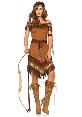 Leg Avenue 85398 - Native Princess Damen kostüm, Größe S/M  (EUR 36-38), Karneval Fasching
