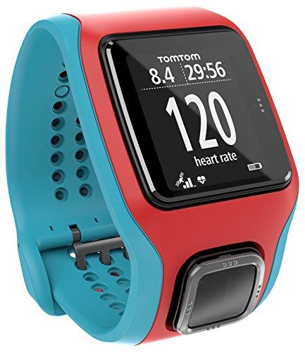TomTom Runner Cardio GPS-Sportuhr türkis/rot