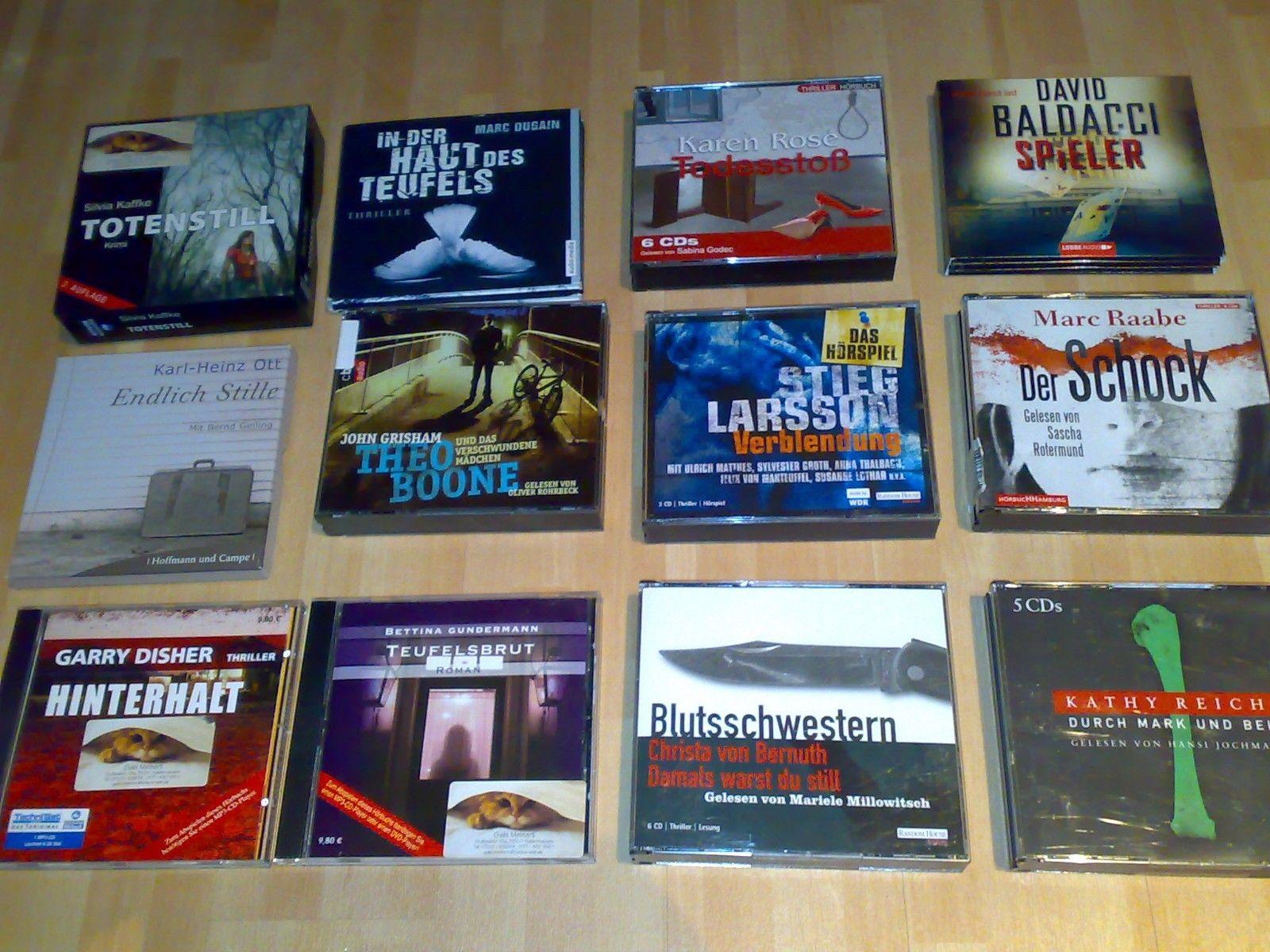 Hörbuch Sammlung Paket 12 Stk. Psycho Thriller Krimi Grisham Reichs Baldacci u.a