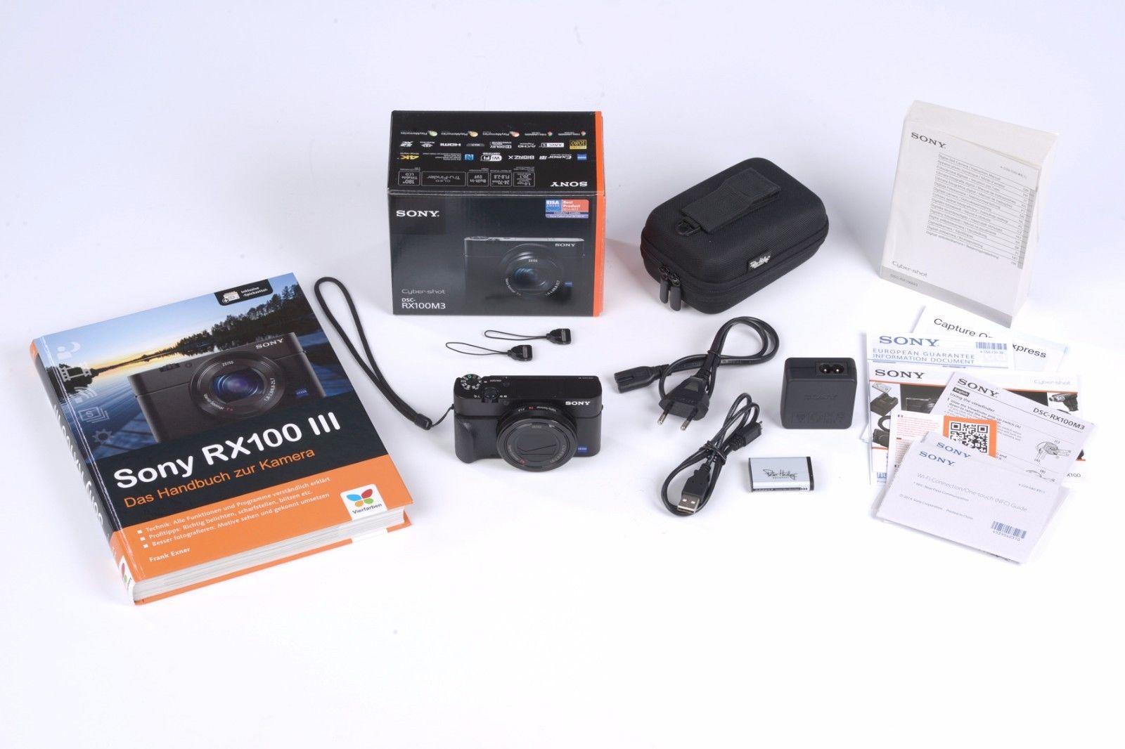 Sony Cyber-shot RX100 III 20,1 MP Digitalkamera - Schwarz (Kit mit Carl Zeiss Va