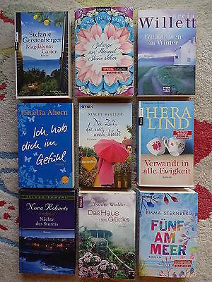 Bücherpaket 9 Frauenromane Liebesromane: Sternberg Lind Willett Ahern Harmel