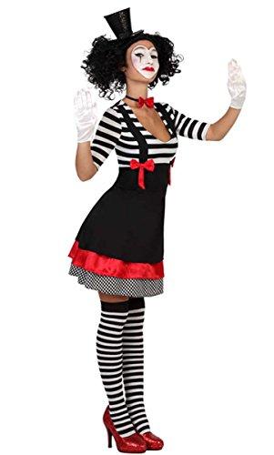 Clown Kostüm Harlekin Pantomime Kleid, Größe XS/S