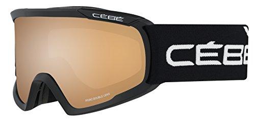Cébé Skibrille Fanatic Black/Orange Flash Mirror, L, CBG94