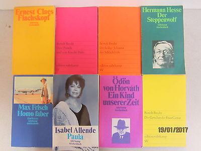 101 Bücher Taschenbücher suhrkamp Verlag Paket 1