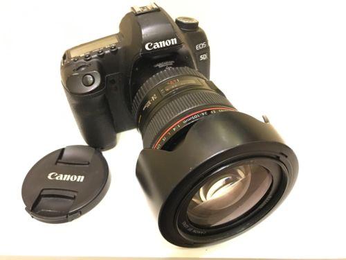 Canon EOS 5D Mark II 21,1 MP Digitalkamera - Schwarz (Kit mit EF IS 24-105mm)