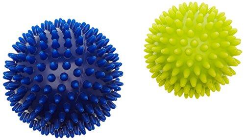 HUDORA Fitness Massageball 2 Stück, Blau/Gelb, 9, 76769