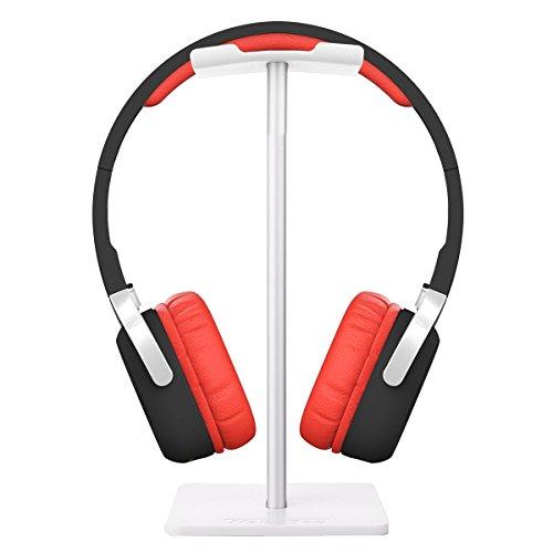 Kopfhörerständer, Minkle Universal Kopfhörerhalter für Over Ear Kopfhörer, aus Aluminium + TPU + ABS , Weiß