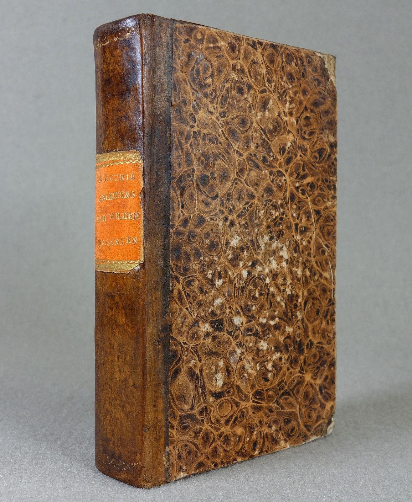 1823 - BOTANIK - Bestimmungsbuch - PFLANZEN Blumen Kräuterbuch Görlitz Leder RAR