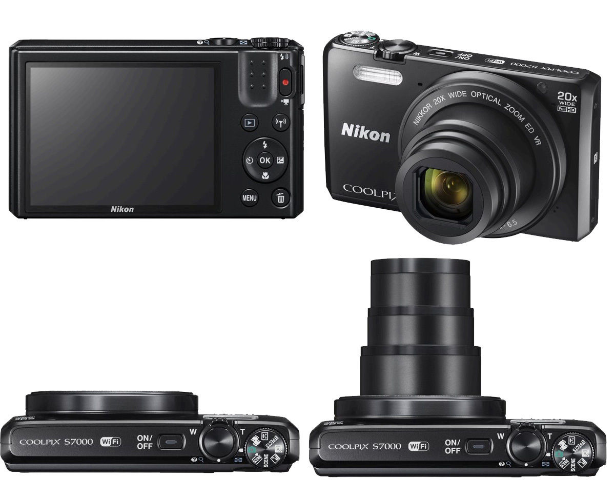 Nikon COOLPIX S7000 16.0MP Digital Camera - (Black)  20X OPTICAL ZOOM