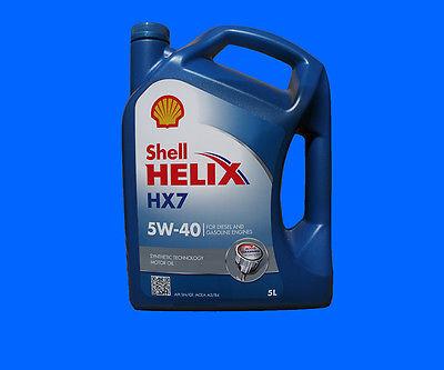 5 Liter Shell HELIX HX7 5W-40 Motorenöl 5W40 MERCEDES VW OPEL RENAULT FIAT NEU
