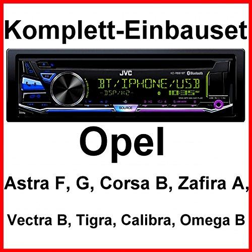 Komplett-Set Opel Astra F G Corsa B Zafira A KD-R981BT Autoradio USB Bluetooth