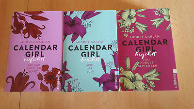 3 Bücher von Audrey Carlan *Calendar Girl* 1-3 ( Januar ~ September)