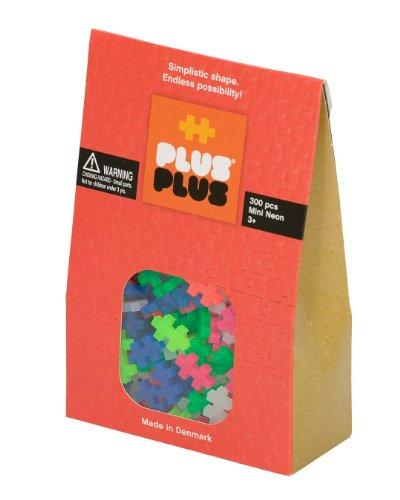 Plus-Plus 52124 - Mini Neon Bausteine, 300 Stück