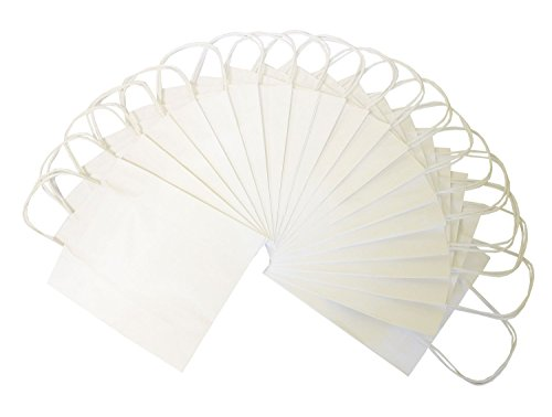 Folia 21800 - Papiertüten Kraftpapier, 18 x 8 x 21 cm, 20 Stück, weiß