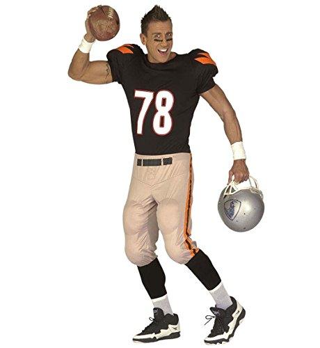 Widmann 44503 - Erwachsenenkostüm American Football Player - gepolstertes Oberteil und Hose, Größe L, mehrfarbig