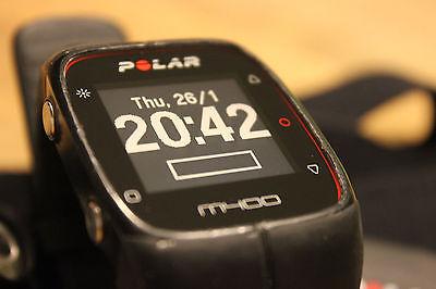 Polar M400 Pulsuhr mit Brustgurt Schwarz Smartwatch Bluetooth GPS