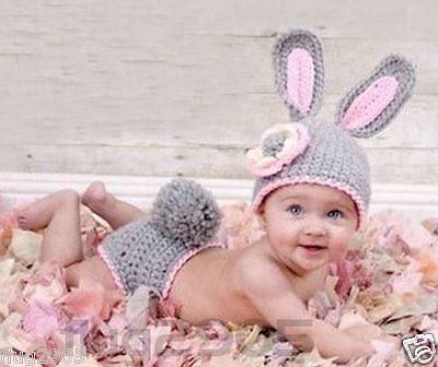 Hase * Fotoshooting Baby Mütze Newborn Neugeborenen  Fotografie Kinderfoto